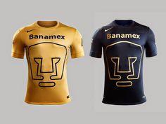"""Pumas logo by Manuel Andrade """"El Pajarito"""" for University in México (UNAM) circa 1974 applied to Soccer Jerseys"""