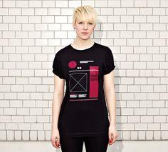NATRI - WIREFRAME- women - black t-shirt