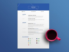 Hogan Resume - Free Resume Template Made With Adobe Illustrator