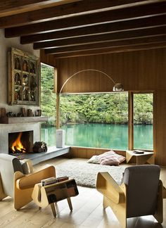 CJWHO ™ (Waterfall Bay House in Marlborough, New Zealand by...) #design #architecture #wood #photography #new zealand #interiors