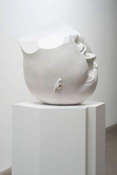 Tanya Batura | PICDIT #sculpture #white #head #black #art