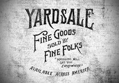Yardsale Jon Contino, Alphastructaesthetitologist #label #typography