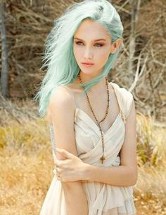 pastel hair #girl #photography #hair #blue