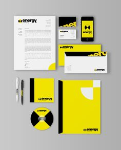 Energy Marketing Branding #identity #branding #stationery