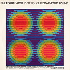Project Thirty-Three: Quadrophonic Sound (Columbia, 1973) #graphic design #mid century #1970s #project thirty three #album cover