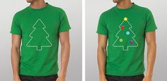 Bor s nama 2010 / Christmas Tree Superstore 2010 on the Behance Network #tree #design #tshirt #shirt #christmas #illustration #green