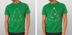 Bor s nama 2010 / Christmas Tree Superstore 2010 on the Behance Network #tree #design #tshirt #shirt #christmas #illustration #green