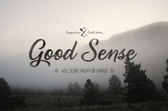 Dribbble - good_sense_outfitters.jpg by Clint McManaman #expedition #adventure #phrase #photography #grunge #signage #type