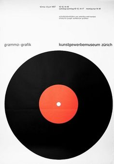 All sizes | grammo grafik | Flickr - Photo Sharing! #swiss #icon #minimalism #record #poster #type #typography