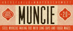 Lost Type Co-op | Muncie #font #retro #typography