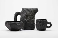 Crockery Black Basalt by Max Lamb