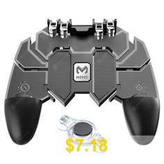 Minismile #Mobile #Game #Joystick #Trigger #Controller #Gamepad #Set #for #Smartphone #- #BLACK