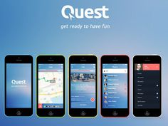 Quest : iOS Game Apps PSD