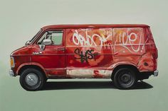 Looks like good Vehicle Paintings by Kevin Cyr #van #ilustration