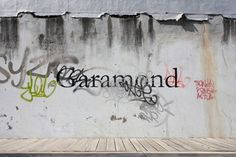 FFFFOUND! | 81_ricardocarvalhotypesgaramond.jpg 620×413 pixels #concrete #graffiti #wall #type #face