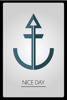 Nice Day Castor Glez. Bayón on Behance #logo #blue #black #anchor #ancla #comentar