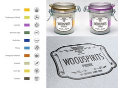 Woodspirits Soaps logo & packaging on Behance #vintage