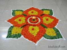 Diya Rangoli Flower Rangoli Designs For Diwali