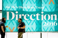 WEB DIRECTIONS DIRECTION 16 #handlebranding #branding #events #typography #freight #serif #signage