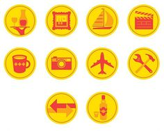 Pictograms on the Behance Network