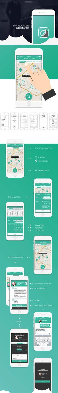 UBER|NANNY brand extension design by Qian Yu #presentation