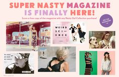 SUPER NASTY Magazine #art #direction #girls #magazine
