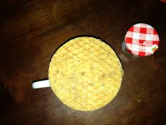 not sure what to call this thing #jam #french #troopwafel #dutch #good #so