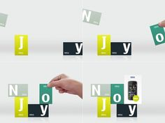 Sam Dallyn - Nokia NJOY - Branding for new phone program #nokia #letters #phone #green