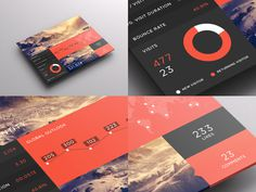 SJQHUB™ Visual Data UI dashboard on Behance