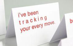 Typographic Valentines Puns #typography #screen print #cards #valentines #valentines day #tracking #puns