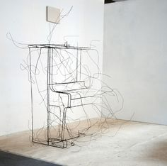 3D wire sculptures by fritz panzer #sculpture