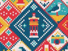 gift wrap pattern illustration by muti