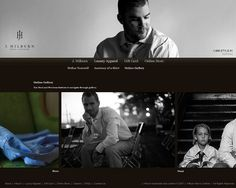 Boulder, Colorado Design Studio — BKW&Co — J. Hilburn Men's Clothier #design #web