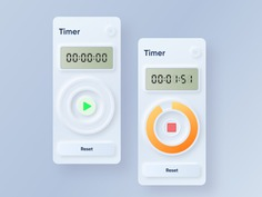 Skeuomorphism / Neumorphism UI Trend - TIMER CONCEPT BY YASH BHAGAT