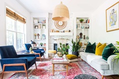 LIVING ROOM REFRESH WITH VELVET CHAIRS FROM ARTICLE - PLACE OF MY TASTE