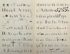 Shaker spirit message (1843) from Heavenly... - Covenger & Kester #vernacular #typography