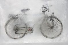 Kerem Ozan: Stasis | Colossal #bicycle #ice #photography #frozen