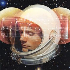 Stardust by Caitlin Burns #neil #design #space #armstrong #photoshop #collage