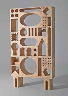 Kyuhyung Cho #wood #shelves #furniture