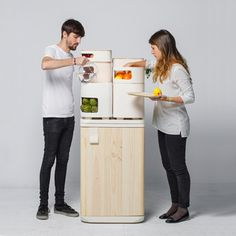 Oltu fridge from Madtastic #interior #fridge #furniture #design