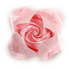 Best rose origami paper flower qt images on designspiration how to make an origami rose paper flower swirl rose http mightylinksfo