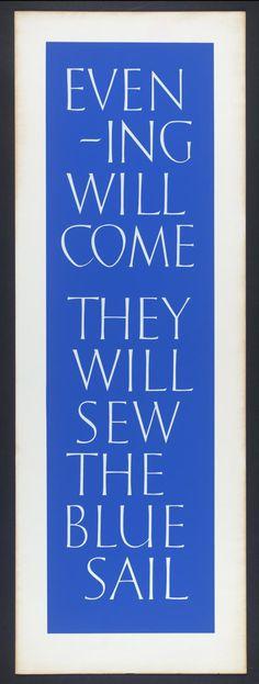 Ian Hamilton Finlay, 'Evening / Sail' 1991
