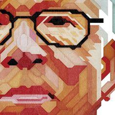 GQ Magazine - Mind Games portraits on the Behance Network #williams #geometric #illustration #portrait #charles