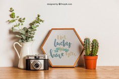 Hexagonal frame mockup on table Free Psd. See more inspiration related to Flower, Frame, Mockup, Floral, Wood, Template, Camera, Table, Floral frame, Mock up, Plant, Decoration, Creative, Flower frame, Interior, Cactus, Plants, Decorative, Wooden, Creativity, Pot, Up, Decor, Wood frame, Wooden table, Flower pot, Hexagonal and Mock on Freepik.