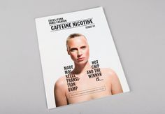 Caffeine Nicotine by She Was Only. #design #editorial #magazine #typography