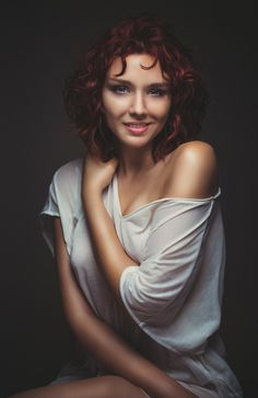 Short Red Hair beauty by Fabrice Meuwissen #photography #redhair #portrait