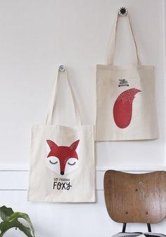 #nordic #design #graphic #illustration #danish #bright #simple #nordicliving #living #interior #kids #room #tote #bag #foxy #fox #tail