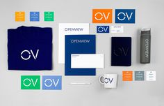 Openview branding corporate design blue Pentagram UK England London Mindsparkle Mag stationery blue marine typography designer business card