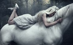 sve20120301h008 #horse #woman #sundsbo #ethereal #dreamy #whites #solve