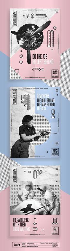 Design by Shanti Sparrow Client: Shanti Sparrow Project Name: Women in War (Modern Propaganda Posters) www.shantisparrow.com  #Design #graph